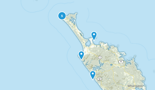 Cape Reinga, Northland Region Beach Map