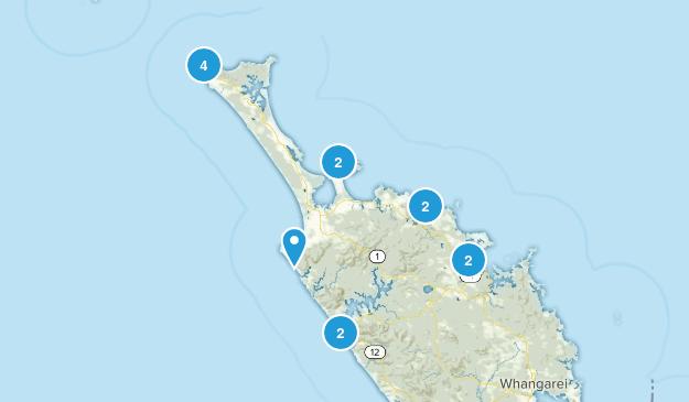Cape Reinga, Northland Region Views Map