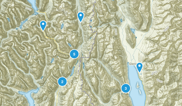 Glenorchy, Otago Region Hiking Map
