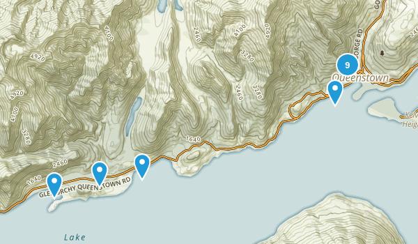 Queenstown, Otago Region Hiking Map