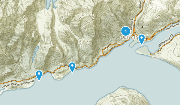 Queenstown, Otago Region Mountain Biking Map