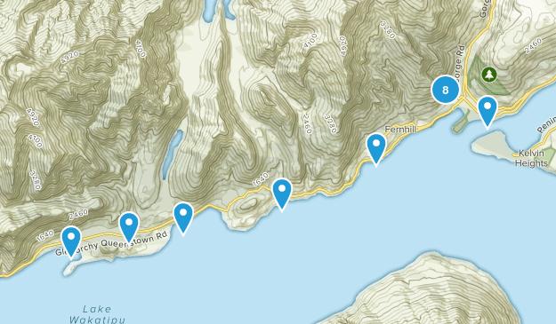 Queenstown, Otago Region Nature Trips Map