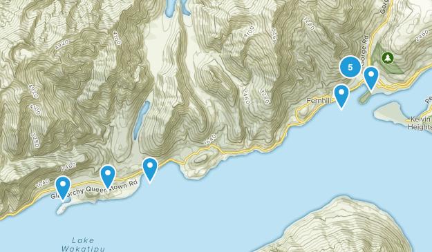 Queenstown, Otago Region Walking Map