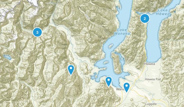 Wanaka, Otago Region Hiking Map