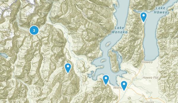 Wanaka, Otago Region Walking Map