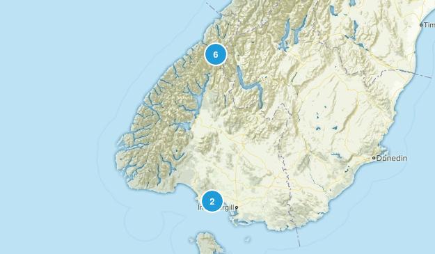 Taramea Bay, Southland Region Nature Trips Map
