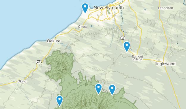 New Plymouth, Taranaki Hiking Map