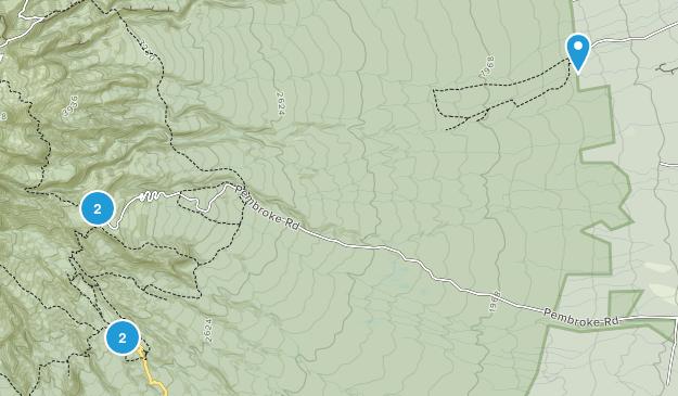 Dawson Falls, Taranaki Region Walking Map