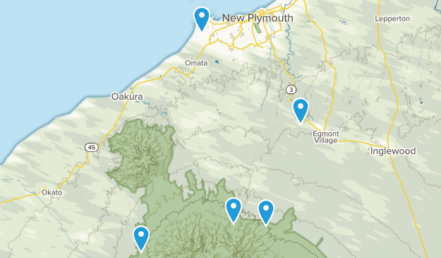 Kent Road, Taranaki Region Hiking Map
