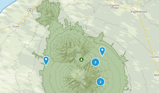 North Egmont, Taranaki Region Hiking Map
