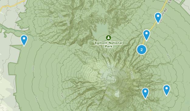 North Egmont, Taranaki Region Walking Map