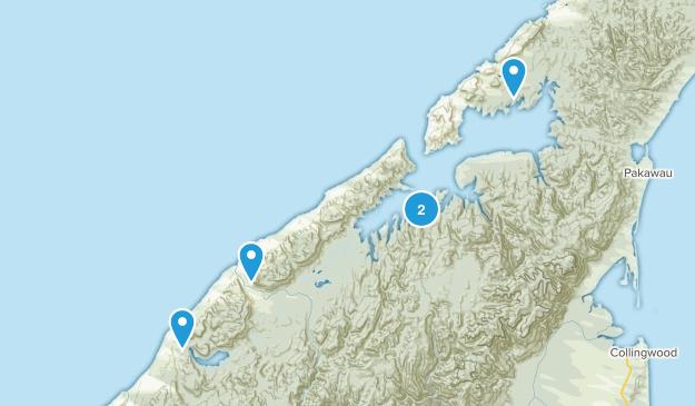 Rakopi, Tasman Region Hiking Map