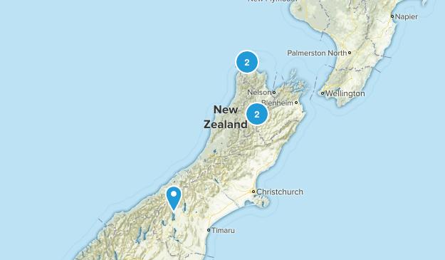 Richmond, Tasman Region Lake Map
