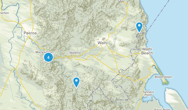 Karangahake, Waikato Region Hiking Map