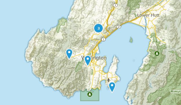 Wellington, Wellington Region Hiking Map