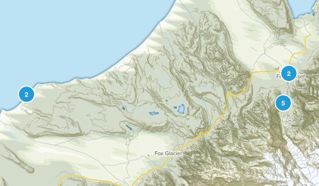Franz Josef, West Coast Region Hiking Map