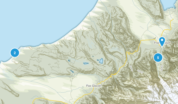 Franz Josef, West Coast Region Views Map