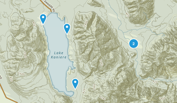 Lake Kaniere, West Coast Region Hiking Map