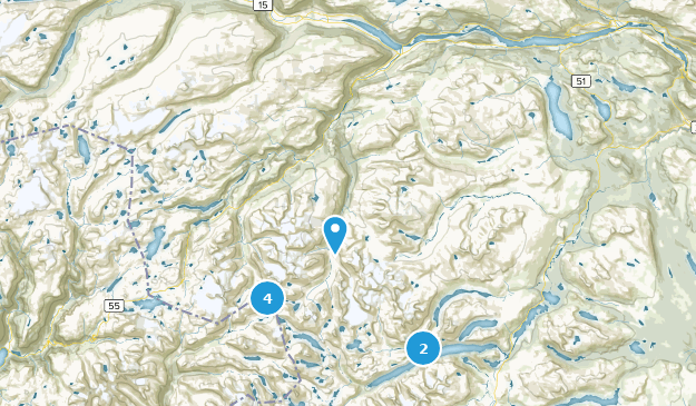Lom, Oppland Hiking Map
