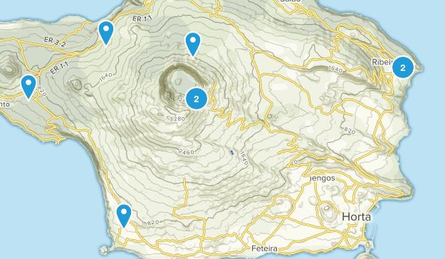 Horta, Azores Hiking Map
