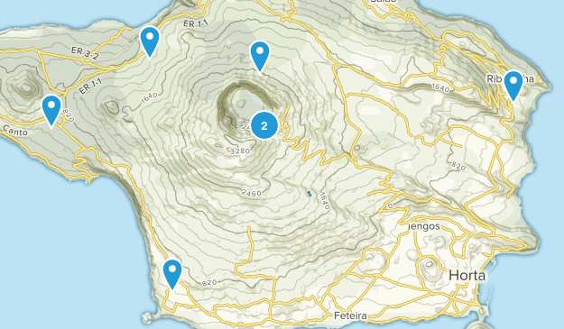 Horta, Azores Walking Map