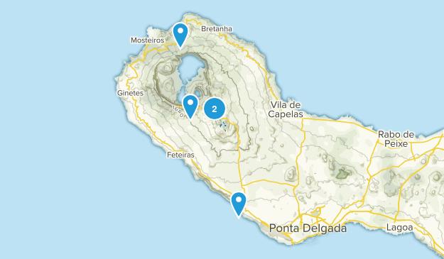 Ponta Delgada, Azores Wild Flowers Map