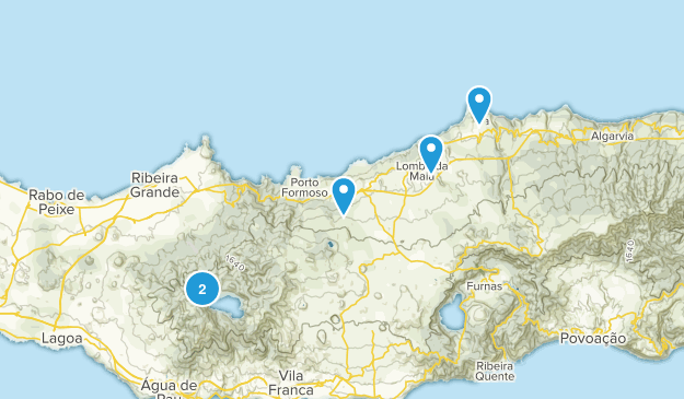 Ribeira Grande, Azores Hiking Map