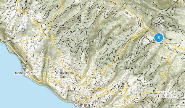Calheta, Madeira Island Hiking Map