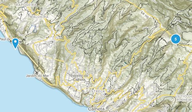 Calheta, Madeira Island Nature Trips Map