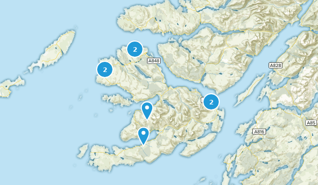 Isle Of Mull, Argyll and Bute Hiking Map