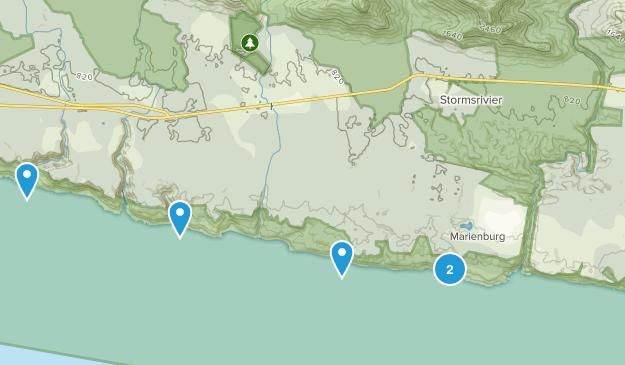 Kou-Kamma NU, Eastern Cape Beach Map