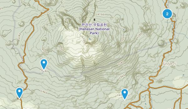 Seogwipo-si, Jeju Hiking Map