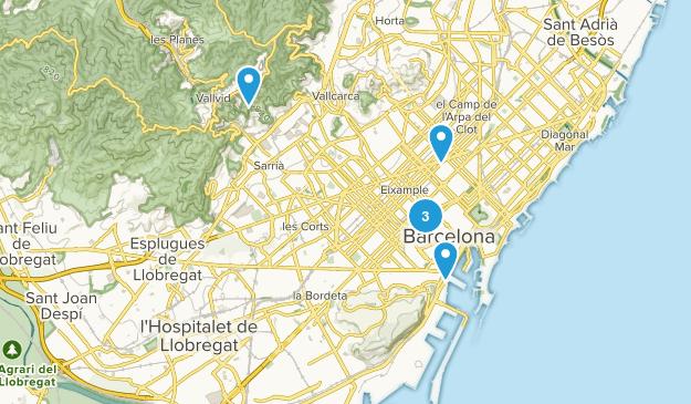 Barnatresc, Catalonia Walking Map
