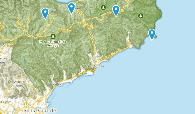 Map Of Spain Tenerife.Best Nature Trips Trails Near Santa Cruz De Tenerife Tenerife Spain
