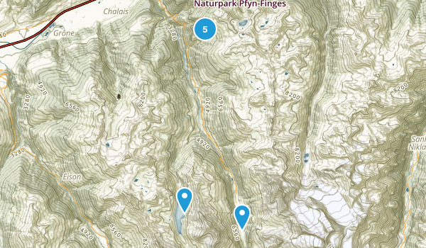 Chandolin, Valais Nature Trips Map