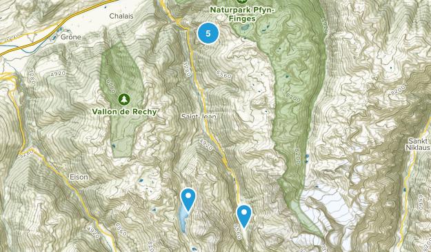 Chandolin, Valais Walking Map