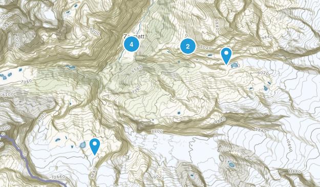 Zermatt, Valais Hiking Map