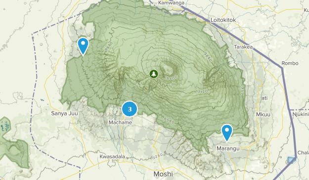 Kibosho Magharibi, Kilimanjaro Hiking Map