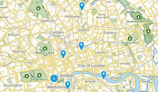 London, England City Walk Map