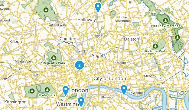 London, England Views Map