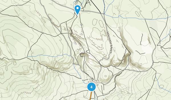 Malham Civil Parish, England Walking Map