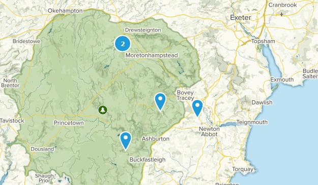 Newton Abbot, England Hiking Map