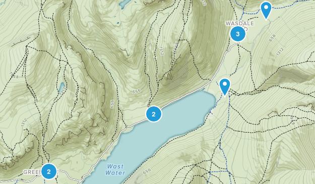 Wasdale, England Hiking Map