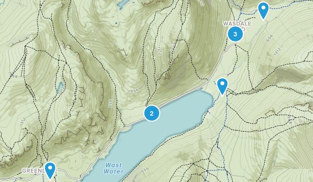 Wasdale, England Walking Map