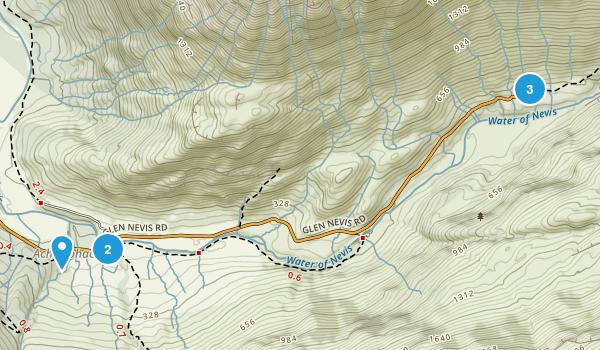 Achriabhach, Scotland Hiking Map