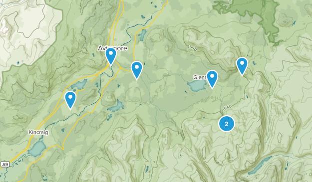 Aviemore, Scotland Hiking Map