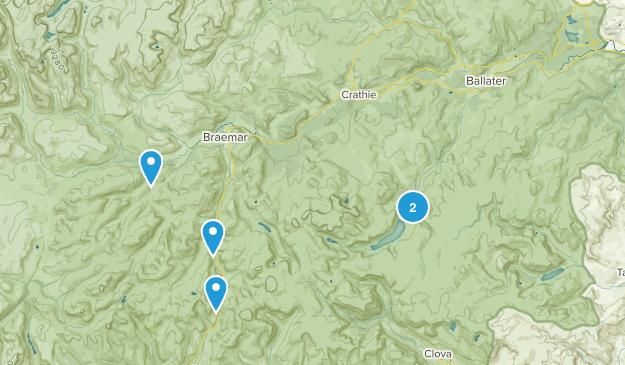 Ballater, Scotland Hiking Map