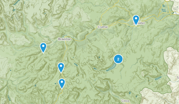 Ballater, Scotland Hiking Map