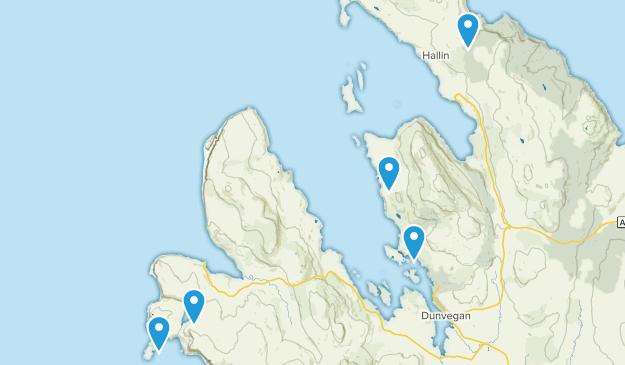 Dunvegan, Scotland Hiking Map