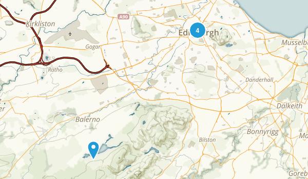 Edinburgh, Scotland Walking Map